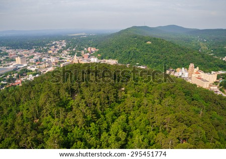 Town View at Hot Springs National Park - stock photo