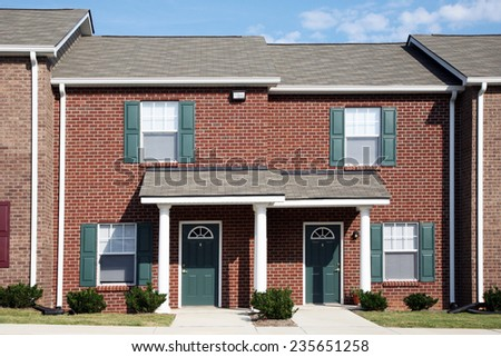 Townhouse Apartments - stock photo