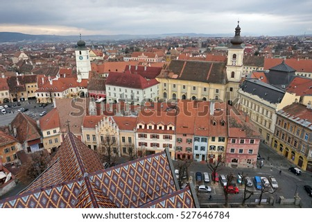 Townscape at Sibiu, Romania