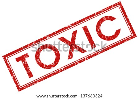 toxic stamp - stock photo