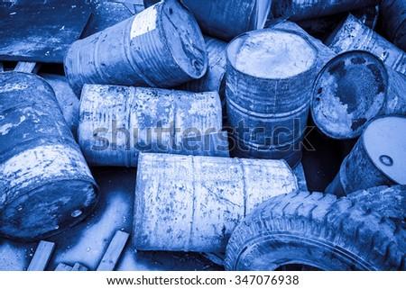 Toxic Waste - stock photo