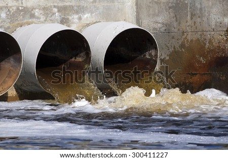 Toxic water running from sewers