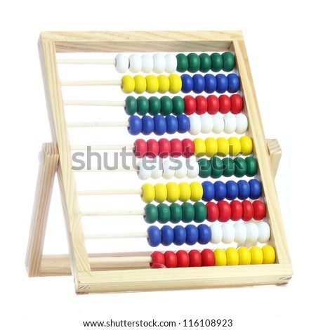 Toy Abacus.Mathematical tool.