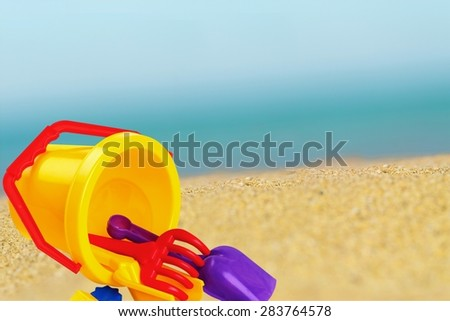 Toy, Beach, Bucket.