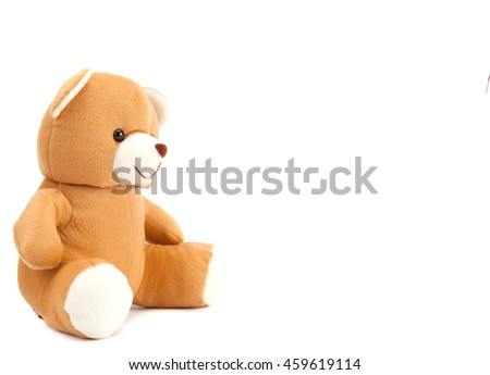 Toy bear isolated on white background