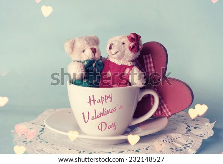 Toy bears. Valentines day.