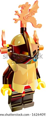 toy black Mediaeval Knight - stock photo