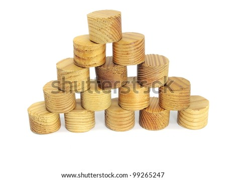 toy blocks pyramid on a white background