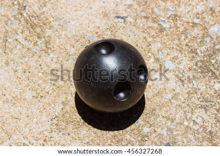 Toy Bowling ball - stock photo