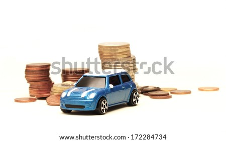 toy car buying - stock photo