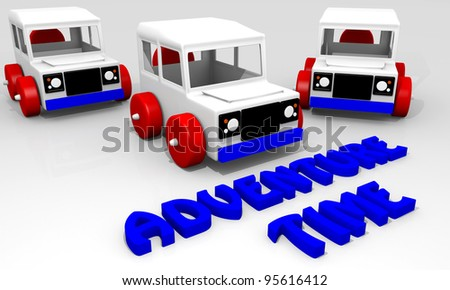 Toy car for adventure time playing - stock photo