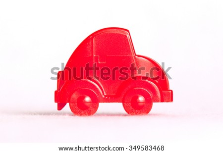 Toy car isolated on a white background