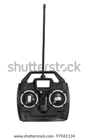 Toy car or helicopter remote control - stock photo