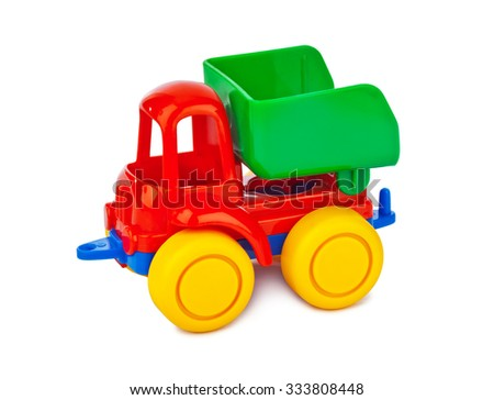 Toy car truck isolated on white background