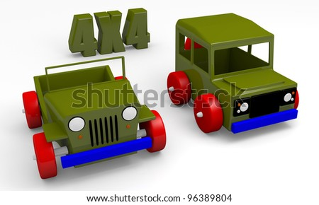 Toy cars for adventure time playing - stock photo