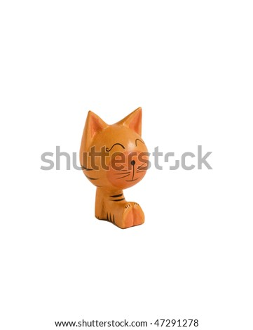 Toy cat is a wood Spain (Catalonia) sculpture.