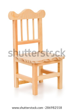 Toy chair isolated on white background - stock photo