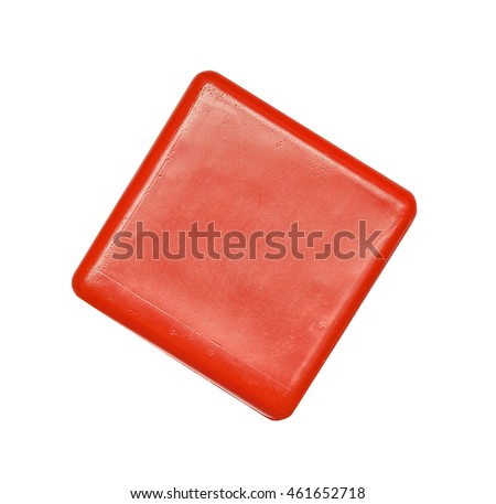 Toy, colorful plastic cube, block isolated on the white