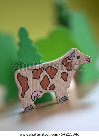 toy cow - stock photo