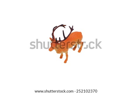 Toy deer. Isolated on white.                                - stock photo