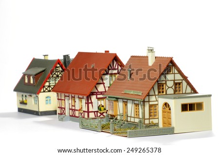 Toy doll house - stock photo