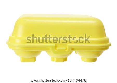 Toy Egg Carton on White Background - stock photo