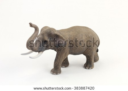 toy elephant isolated on white