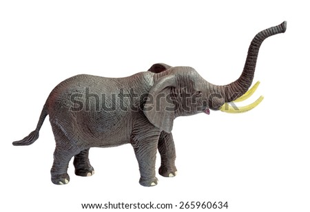 Toy Elephant on White Background