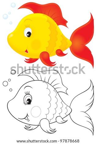 Toy fish - stock photo