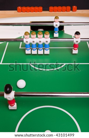 Toy football players - stock photo