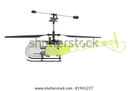 toy helicopter - stock photo