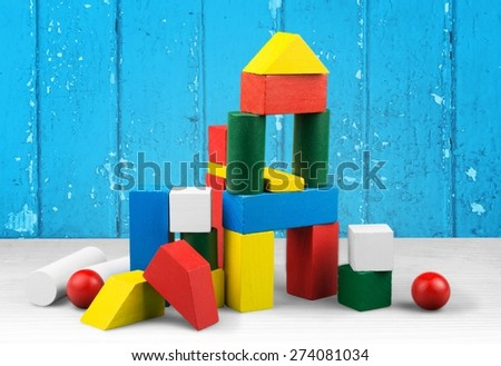 Toy, kid, wooden. - stock photo