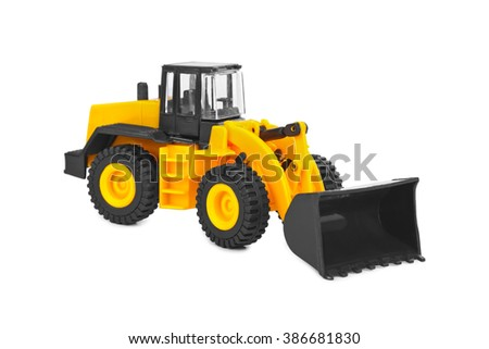 Toy loader isolated on white background - stock photo