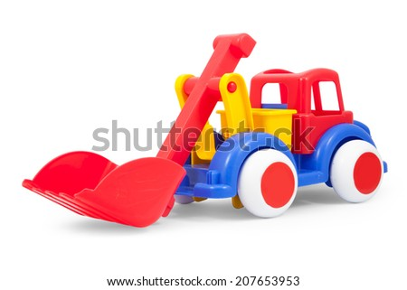 Toy loader isolated on white,  file includes a excellent clipping path