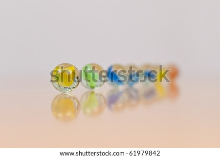 Toy Marbles in Shallow DoF - stock photo