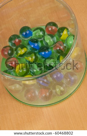Toy Marbles Set - stock photo