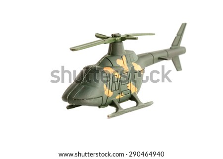 Toy Military Helicopter - stock photo