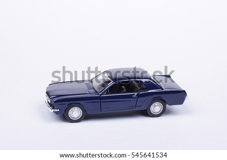 Toy model car isolated on the white background