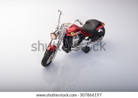 Toy motorbike isolated on white background