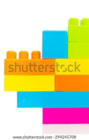Toy parts plastic block with colorful for kid
