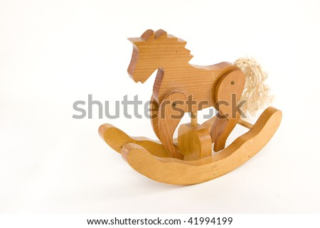 Toy Rocking Horse - stock photo