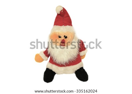 Toy Santa Claus on a white background