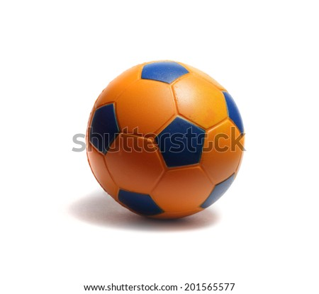 toy soccer ball on a white background