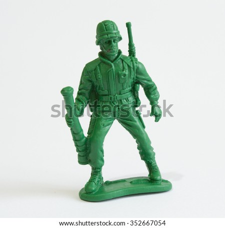Toy soldier - stock photo