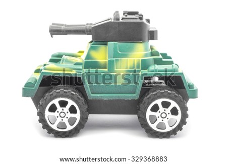 toy tank isolated on white