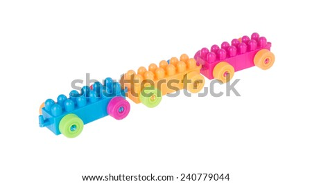 Toy. Toy block car. Toy block car on the background. - stock photo