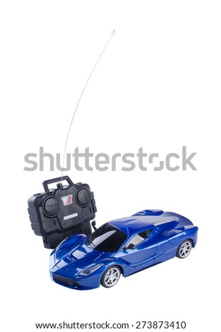 toy. toy car remote control on a background