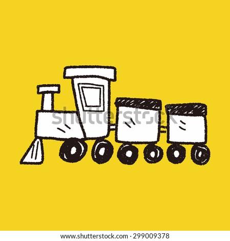 toy train doodle - stock photo