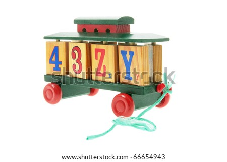 Toy Train on White Background