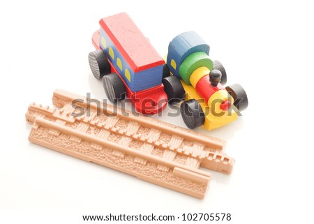 Toy Trains - stock photo